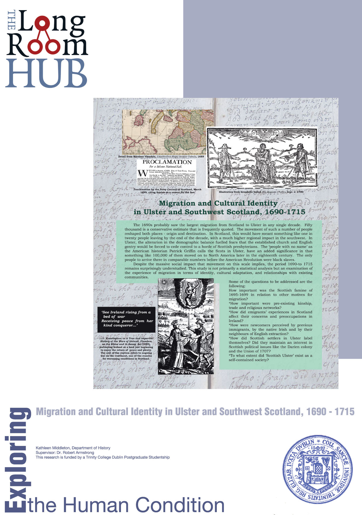 Migration and Cultural Identity in Ulster and Southwest Scotland