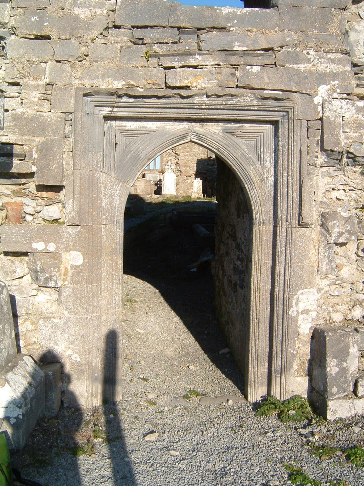 Abbeydorney Cistercian Monastery Exterior West Wall Door